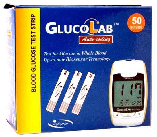 GlucoLab (50 Test Strips)