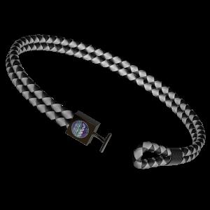 Leather Bracelet - Black and White