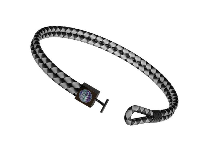 Leather Bracelet - Black and White