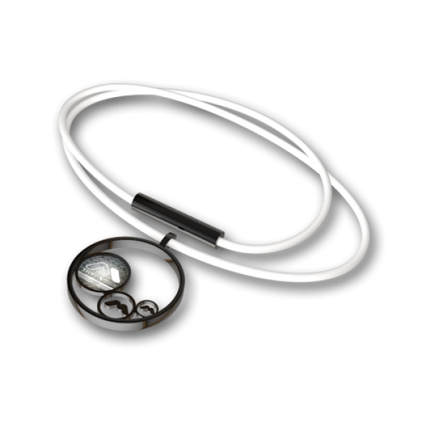 Steel pendant Black-white