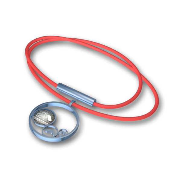 Steel pendant Blue-red
