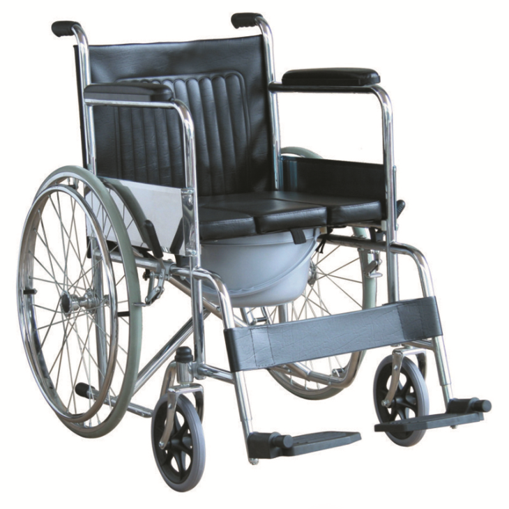 "Commode Wheelchair With ""U"" Seat Panel (JL609U)"