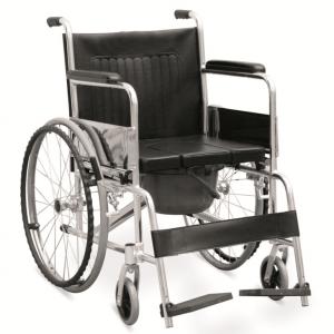 "Commode Wheelchair With ""U"" Seat Panel (JL609LU)"