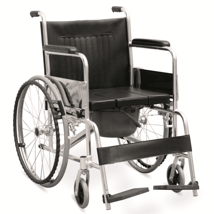 "Commode Wheelchair With ""U"" Seat Panel (JL609LU)"